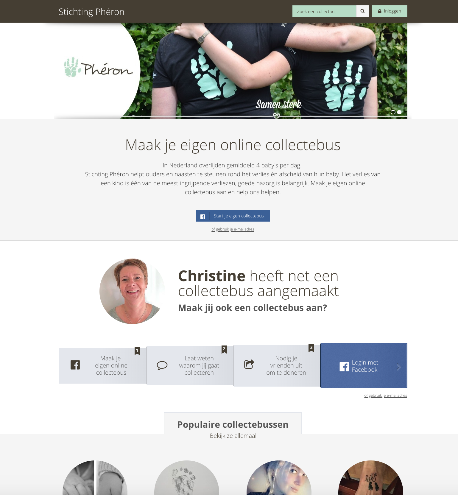 Website stichting pheron